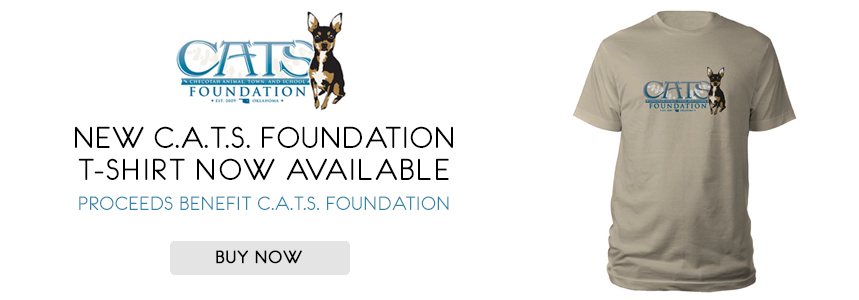 New C.A.T.S. Foundation T-shirt Now Available - Proceeds benefit C.A.T.S. Foundation
